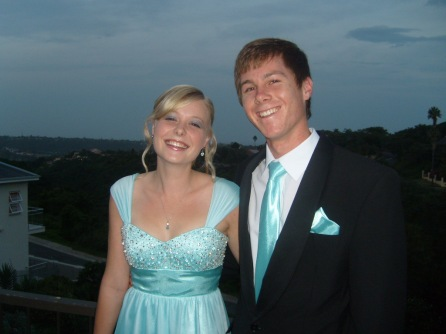 Sarah Kingon and Nick Koning are ready for the Selborne College Matric Dance 2012.