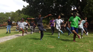 Students going all out at their first 'encounter' at the Drostdy Lawns. Photo Credit: Smangaliso Ngwenya.