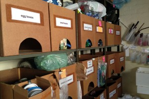 The Centre for Social Development's Eyethu room is filled with resources that have been sorted and made ready for collection. Photo: Roxanne Daniels