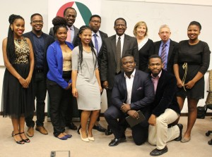 Sizwe Nxasana pictured with the BMF committee at Rhodes. Photo: Roxanne Daniels.