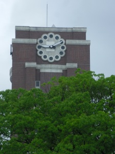 Like Rhodes, Kyoto University is watched over by a magnificent clock tower. This is, strange as it may seem, not the only thing the two universities have in common. Photo by: Dani Kreusch
