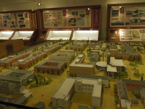 A model of the main campus of Kyoto University, which has reportedly changed its structure very little since it was first built in the early 1869. Photo by: Dani Kreusch